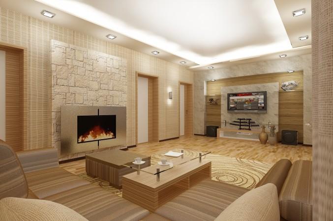 Итак, мы рассказали вам о теоретических основах разработки дизайна гостиной  с камином
